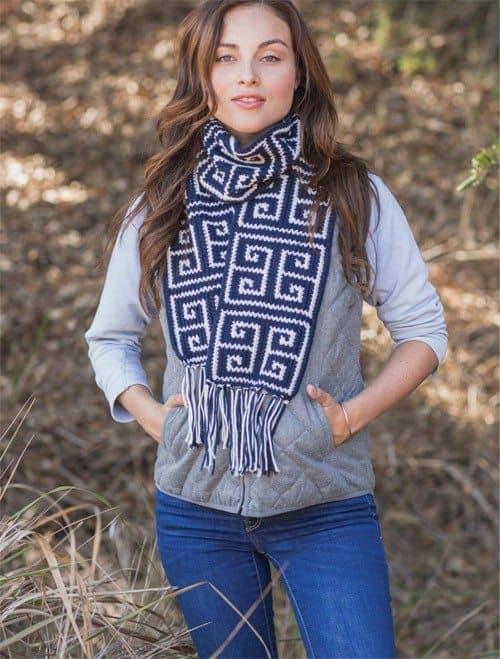 tapestry crochet scarf by alessandra hayden