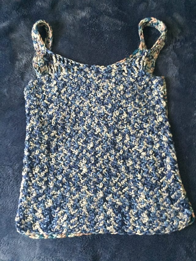 crochet cotton tank