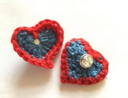 Free Crochet Heart Pattern to Raise Funds for Cancer Care