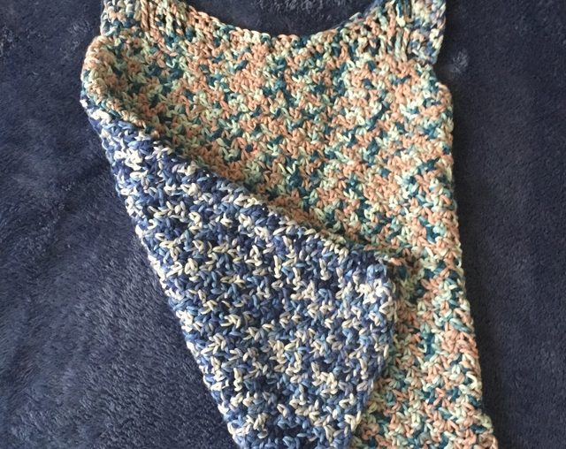 wattle stitch crochet cotton tank top