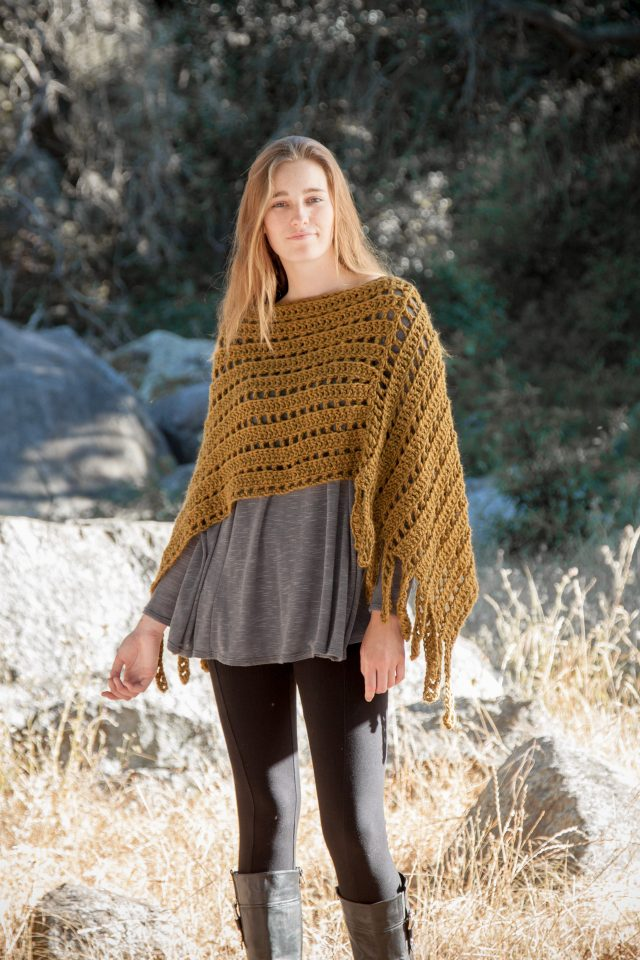 fall crochet wrap from annies