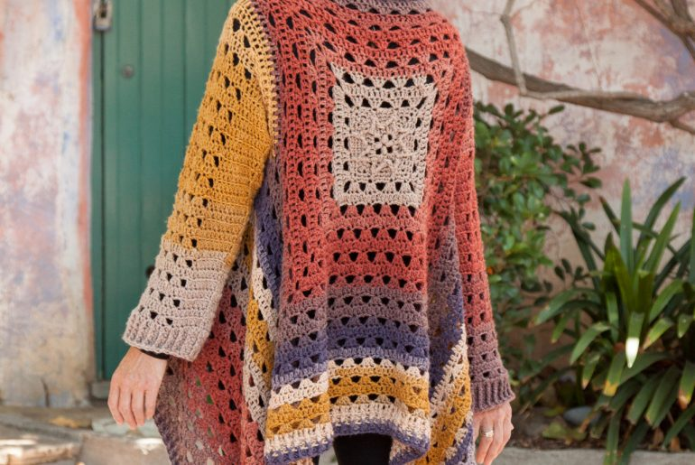 Annie's granny square fall crochet pattern