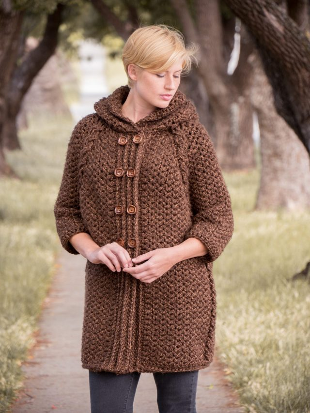 crochet fall coat from annies